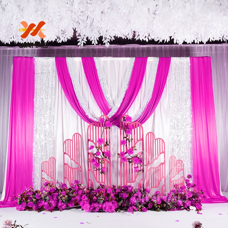 4x7FT Rose Gold Sequin Backdrop Wedding Party Decoration US STOCK