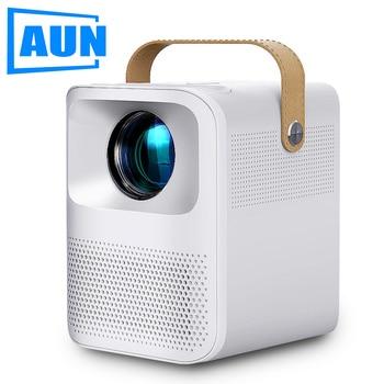 AUN Full HD Projector ET30 Optional Android 7800mAH Children Portable Home Cinema MINI LED Beamer 1920x1080p 4k Video via HDMI