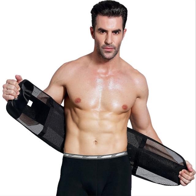 Meihuida Men Slimming Abdomen Fat Burn Tummy Body Shaper Sweat Belt Cincher Wraps Corset Gym Sport Shapewear Model Tape 4