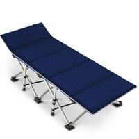 Azul laranja cama dobrável cama de solteiro siesta casa cama de siesta escritório portátil acampamento cama simples cama de escolta| |   -