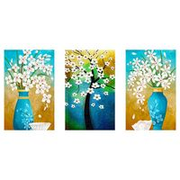 Set of 3 Special shape 5D Diamond Painting Kit for Adult Full Drill Paint with Diamonds Pictures Arts Craft for Home Decor , vas