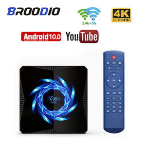 Android 10 x96q max smart tv box 6k h616 4gb 32gb quad core google player de voz loja wifi bluetooth 4k media player conjunto caixa superior
