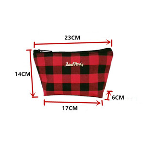 Image 3 - New For Christmas Buffalo Plaid Tote handbag With Lined Leather Trimmed Handles beach bag red and white check shopping handbag