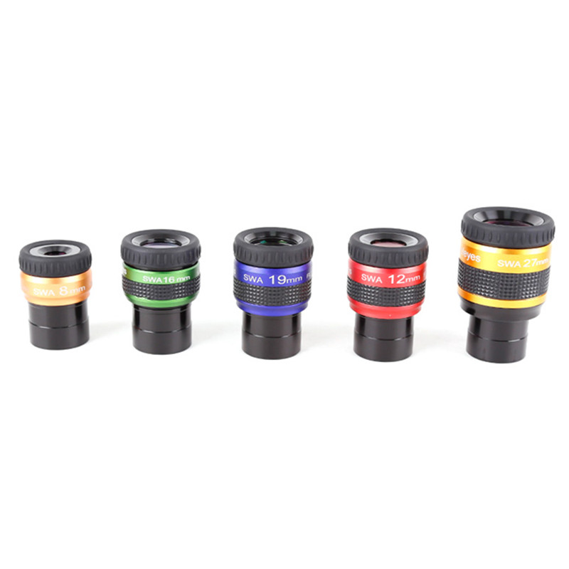 Angeleyes SWA 70 Degree Super Wide-angle High Achromatic 1.25 Inch 8mm 12mm 16mm 19mm 27mm Metal Eyepiece Telescope Accessories