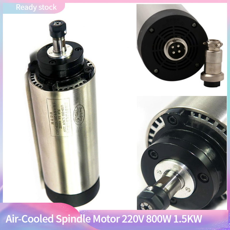CNC Air Cooled 220V Spindle Motor 800W 1.5KW 2.2KW ER20 Router Tools For Milling Machine