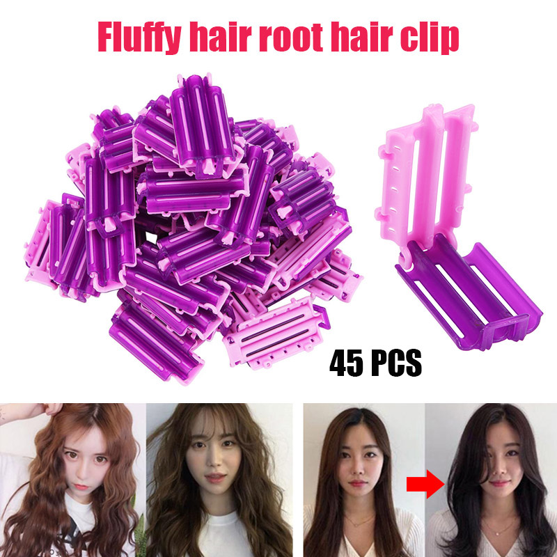 45pcs/bag Hair Clip Wave Perm Rod Bars Corn Curler DIY Curler Fluffy Clamps Rollers Fluffy Hair Roots Perm Hair Styling Tool