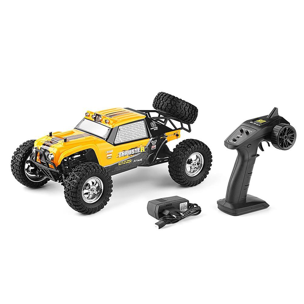 RCtown 12889 112 4WD 2.4G RC Voiture Propulseur Dérive lumière LED Télécommande Désert Camion Hors route