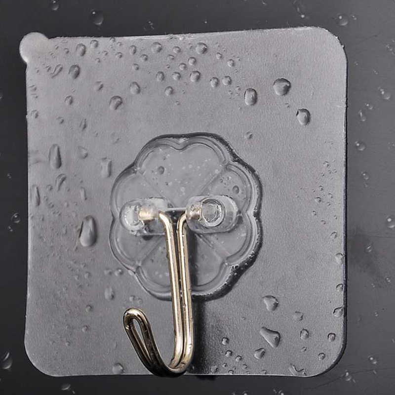 20Pcs Nano-Lijm Sterke Transparante Zuignap Zuignap Haak Keuken Badkamer Hanger Haak 6*6Cm punch-Gratis Naadloze Haak
