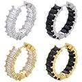 Женские маленькие серьги-кольца ZHUKOU, золотистые/Серебристые модные серьги с фианитами, вечерние ювелирные изделия, Модель: VE327, 2020