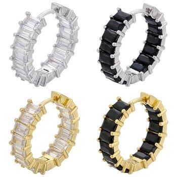 Женские маленькие серьги кольца ZHUKOU, золотистые/Серебристые модные серьги с фианитами, вечерние ювелирные изделия, Модель: VE327, 2020|Серьги-кольца|   | АлиЭкспресс