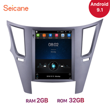 Seicane Android 9,1 9,7 дюймов Автомобильный головное устройство плеер для 2010- Subaru Outback левый руль gps Navi поддержка Carplay OBDII