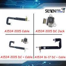 Gouzi a1534 DC-IN i/o usb c carregamento de potência dc jack placa conector com cabo para macbook retina 12