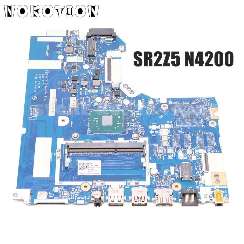 NOKOTION DG424 DG524 NM-B301 5B20P19720 For <font><b>Lenovo</b></font> <font><b>IdeaPad</b></font> <font><b>320</b></font>-14IAP 14 inch laptop <font><b>motherboard</b></font> SR2Z5 N4200 CPU DDR4 image