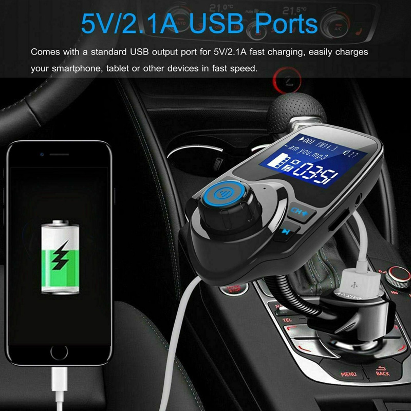 Car Kit Wireless Bluetooth FM Transmitter USB Charger MP3 Player Radio Adapter JFlyer