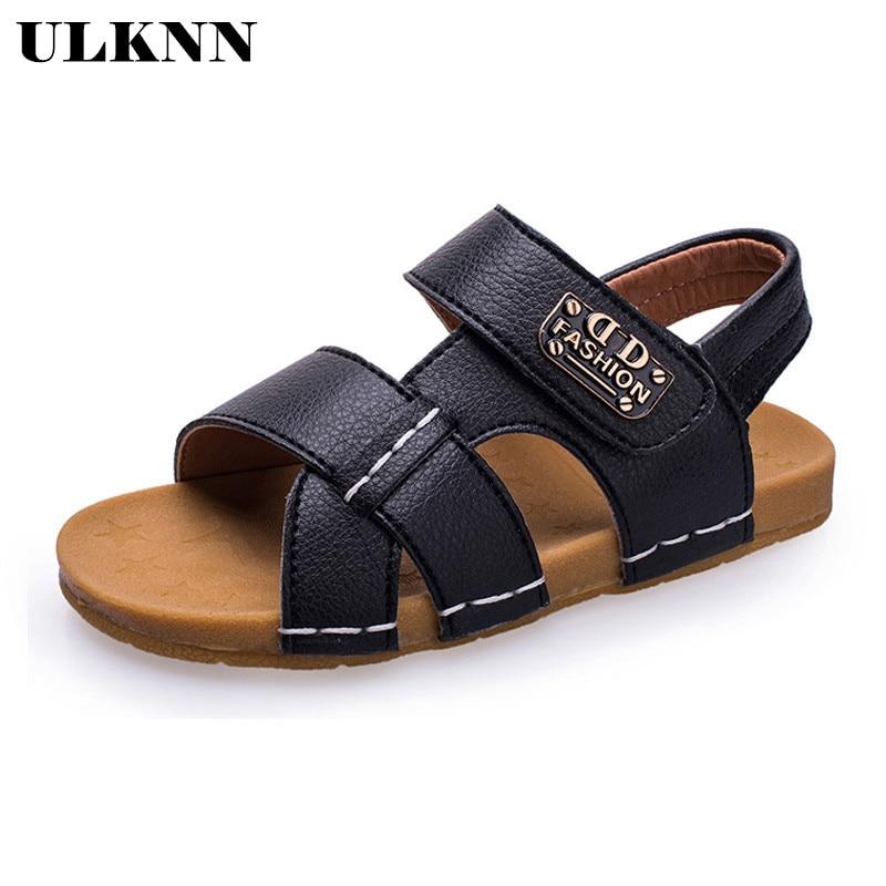 ULKNN Summer Beach Boys Sandals For Kids Shoes Children Sandals Girls Shoes Cut-outs Open-toe Sport School Sandalia Infantil