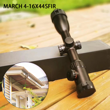 Hunting Scope Riflescope 4-16X44SFIR Red/green Illuminated Military Optic Sight Sniper Deer Riflescope Scope Mildot цена