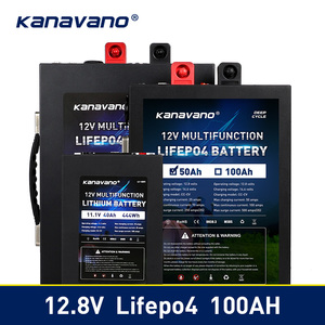 Portable 12V LiFePo4 battery Lithium iron phosphate 12.8V 40ah 50ah 100ah Battery Pack with BMS Board 500A For Inverter Tax Free
