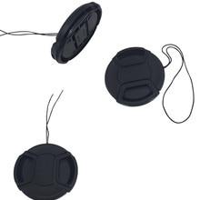 Профессиональная защитная крышка объектива для Canon/Nikon/Pentax/sony ABS Пыленепроницаемая крышка объектива камеры с защитой от потери веревки