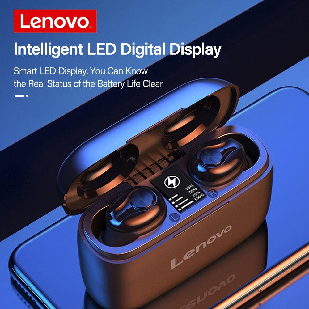 Оригинальный телефон Lenovo HT18 наушники-вкладыши TWS беспроводной Bluetooth 5,0 наушники 1000 мАч батареи светодиодный дисплей вкладыши регулятор гром...