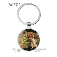 2019,One of the most famous works of art, Mona Lisa / Keith / Girl's Glass Pendant Jewellery discovery, key chain(China)