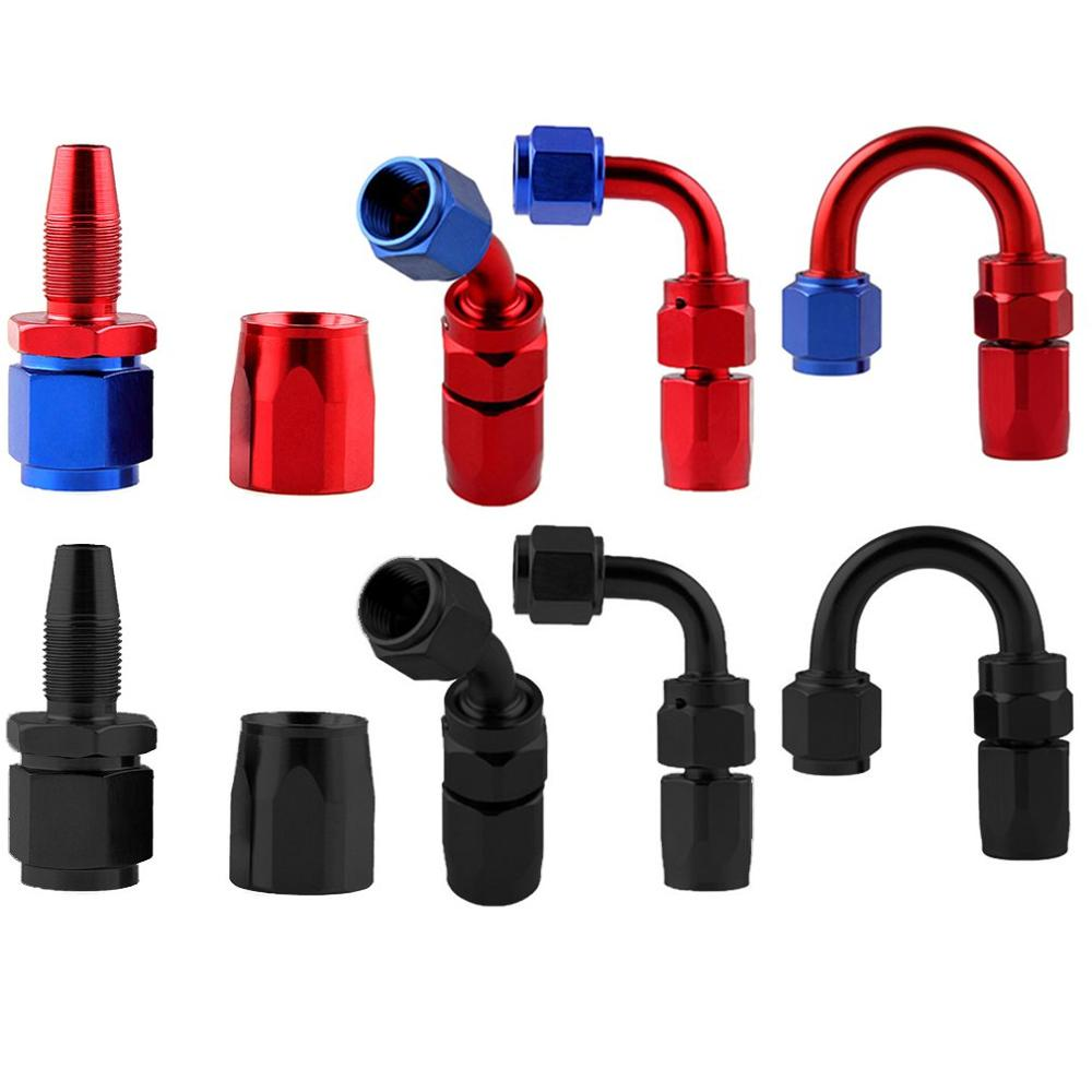Car Modification An6 0-180 Degrees Detachable Fast / Oil-Cooled Joints Anti-Leakage Oil Cooler Parts Car Accessories