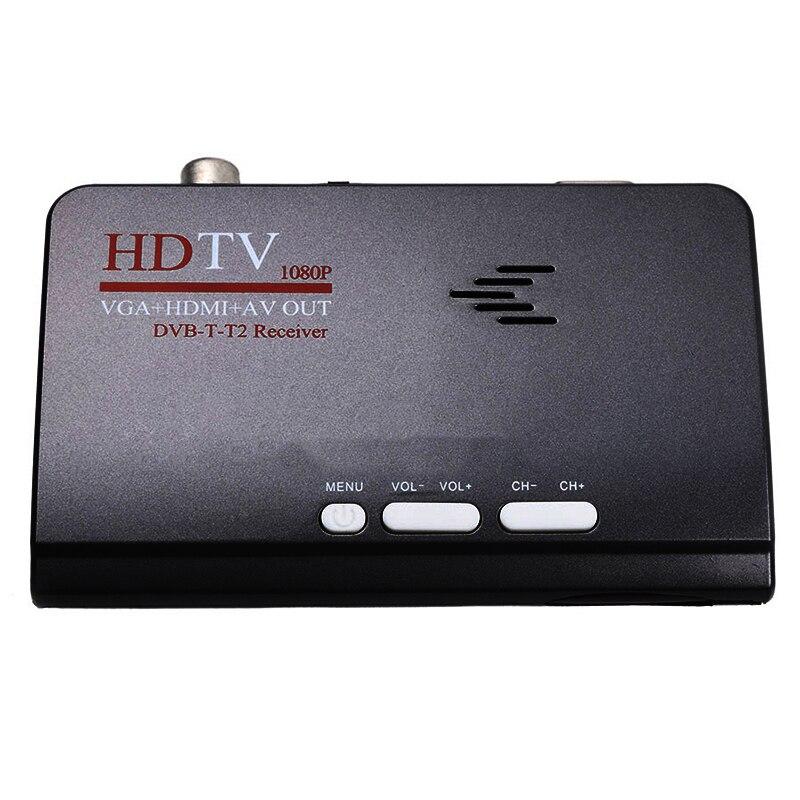 Smart Tv Box Us Plug 1080P Hd Dvb-T2/T Tv Box Hdmi Usb Vga Av Tuner Receiver Digital Set-Top Box