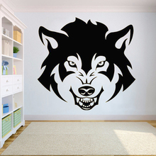 Vinyl Wall sticker for Wolf Dog Animals anime wall decal decor Wolf Wall Tattoo Office Murals Home Decoration Decals HQ079 dog 56 cute paw heart wall sticker creative cartoon cat dog lover vinyl wall decal home