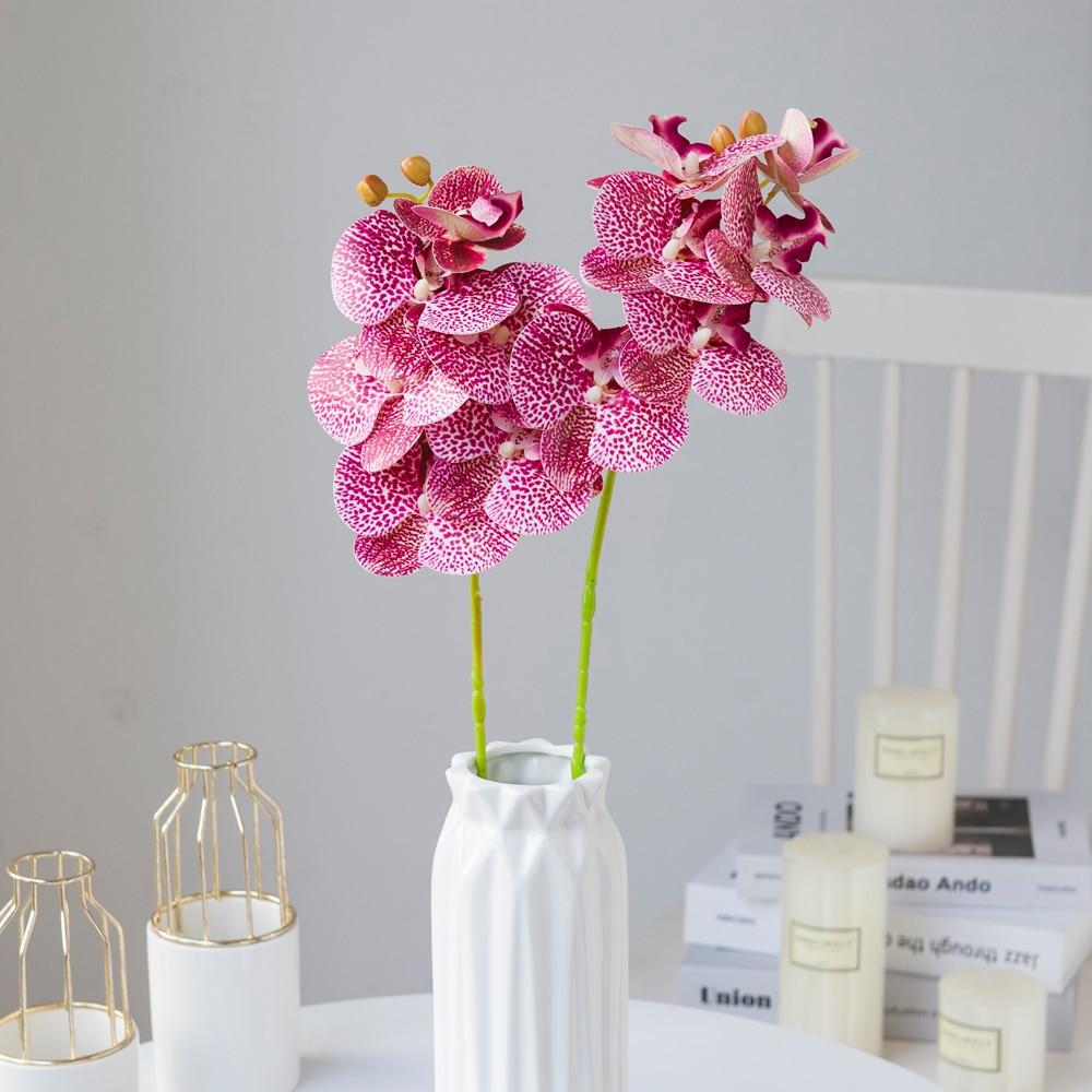 Искусственные цветы 3D лента Орхидея Фаленопсис высокое качество бабочка поддельные вазы для растений, украшение для свадьбы, дома, украшен...