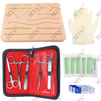 Medical student Skin Suture Training kit Surgical suture instrument Silicone model Scalpel Suture needle Needle holder
