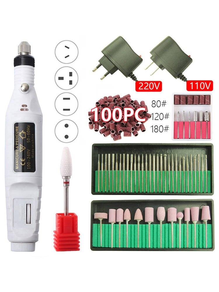 Electric-Nail-Drill-Machine-Pen Cutters Manicure-Kit-Equipment Nail-Sander Pedicure Ceramic