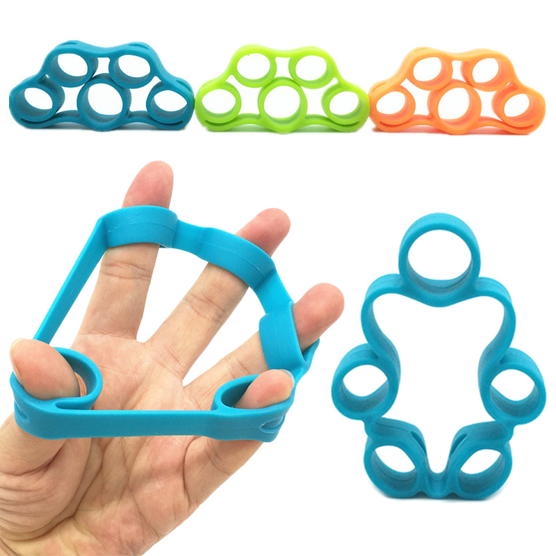 Silicone Finger Tension Strength Trainer Resistance Band Hand Grip Wrist Yoga Stretcher Finger Trainer Fitness Equipment