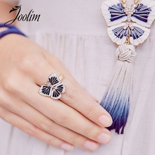 JOOLIM Jewelry Wholesale/High Quality Enamel Butterfly Finger Rings for Women Customized