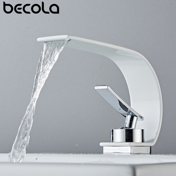 Becola Wholesale And Retail Deck Mount Waterfall Bathroom Faucet Vanity Vessel Sinks Mixer Tap Cold And Hot Water Tap 2014 wholesale and retail geowoodstock xii peace and friendship pathtag geocoin alternative coin hl50216