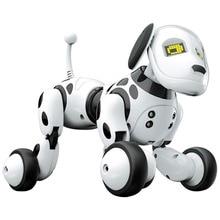 Brinquedo de cão/robô rc, brinquedo interativo inteligente com luz led, animais fofos e presente de aniversário para crianças