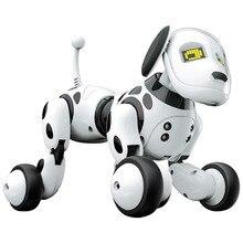 RC Robot chien jouet chanter danse Intelligent électronique jouet pour animaux de compagnie interactif Intelligent parlant jouet Led mignon animaux enfants cadeau danniversaire