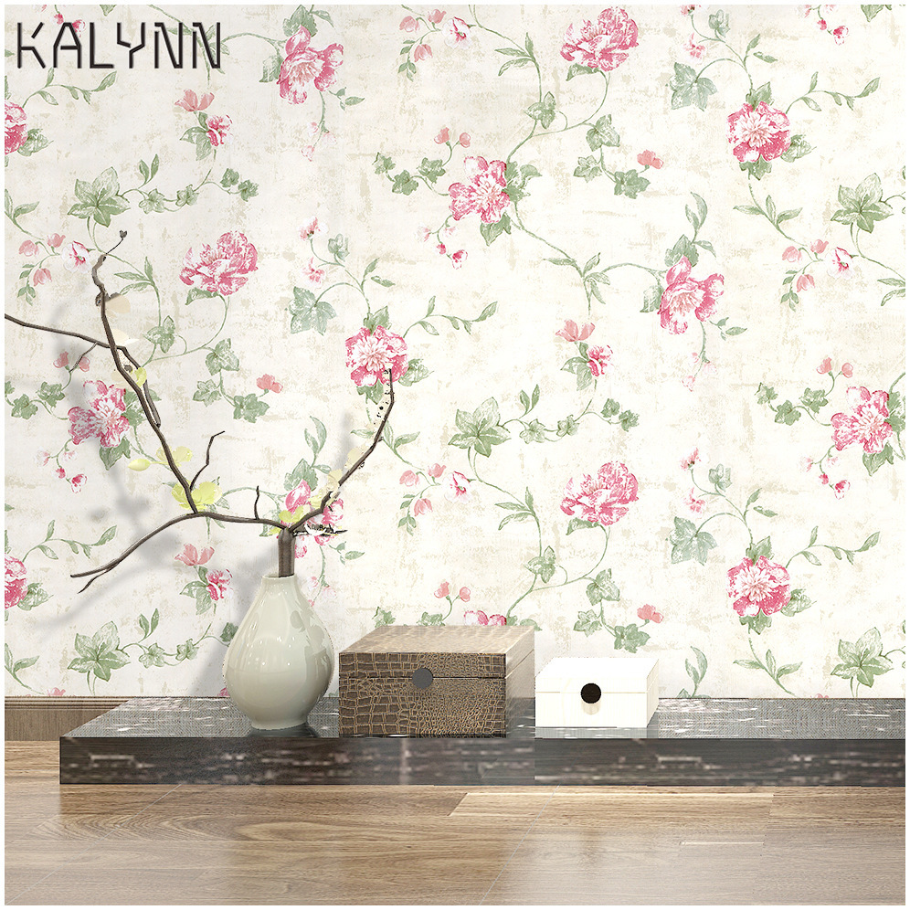 Victoria Floral Wallpaper Peel And Stick Wall Murals Pink 17.7