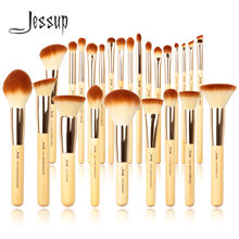 Jessup бамбуковые Профессиональные кисти для макияжа набор 6