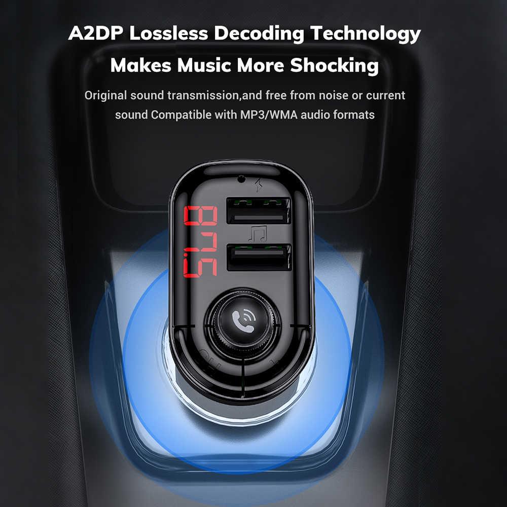Auto Bluetooth 5.0 Fm-zender Draadloze Handsfree Audio Receiver Auto MP3 Speler 3.1A Dual Usb Fast Charger Auto Accessoires