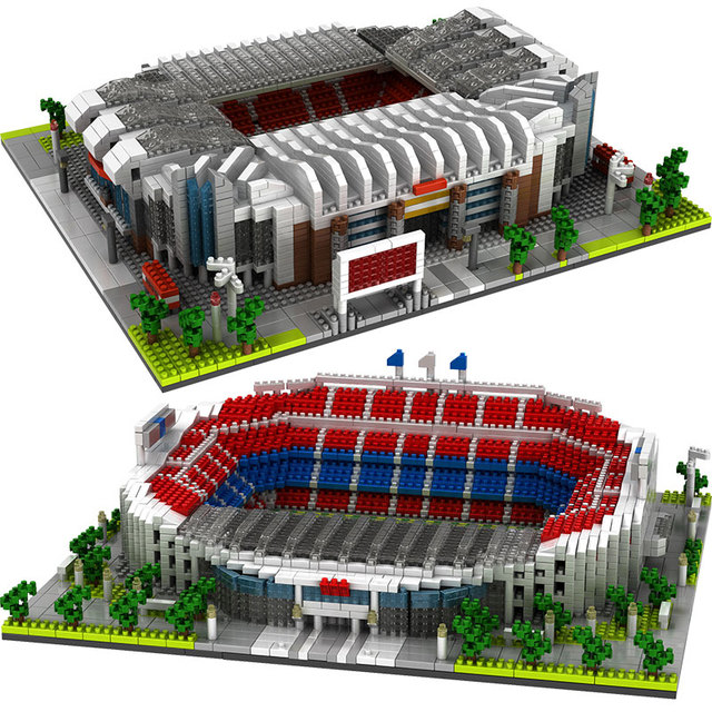 Diamond Blocks City Famous Architecture Football Field Soccer Camp Nou Signal Lduna Park Mini Building Blocks Toys for Childre