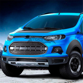 F-150 Raptor Style Grill For Ford EcoSport 2012-2016 Upgrade Front Hood Center Grille Car Styling Car Accessories