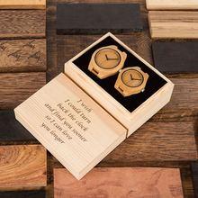 Paar Horloge こうのたろうTaro Kono Minister BOBOBIRD Hout Horloge Mannen Horloge Aangepaste Gift Liefhebbers Anniversary Geschenken in Houten Doos