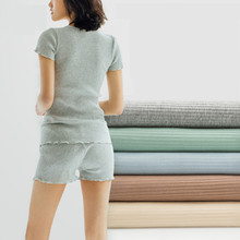 Diy 0.5m Pure Cotton Fabric, Thread Bottom Trousers, Hole Stripes, Rib Skirt, Baby Cotton, Color Cloth