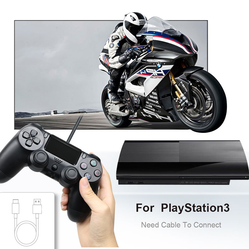 Bluetooth Gamepad and Wireless Game controller with Audio Function for PS4 and PS3 3