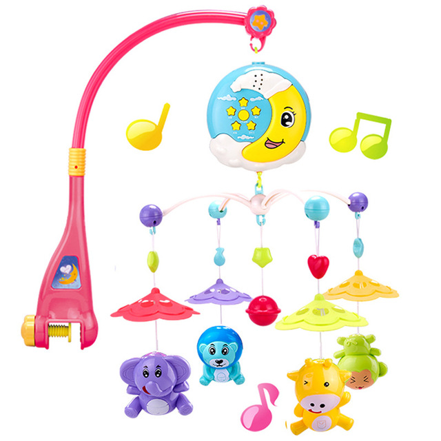Baby Rattles Crib Mobiles Toy Holder Rotating Crib Mobile Bed Musical Box Projection 0-12 Months Newborn Infant Baby Boy ToysBaby & Toddler Toys