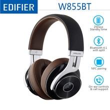 EDIFIER W855BT 무선 블루투스 헤드폰 HD 스테레오 음악 무선 헤드셋 BT V4.1 마이크 3.5mm AUX 케이블 NFC 페어링