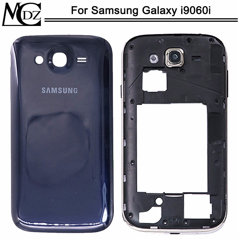 New i9060 Battery Cover For Samsung Galaxy Grand Neo i9060i Back Cover+Middle Frame+Camera Frame Rear Plastic Chassis Housing