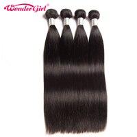 Indian Straight Hair 4 Bundles Deal 100% Human Hair Bundles Natural Color Remy Hair Extension 10 28 No Shedding Free Shipping