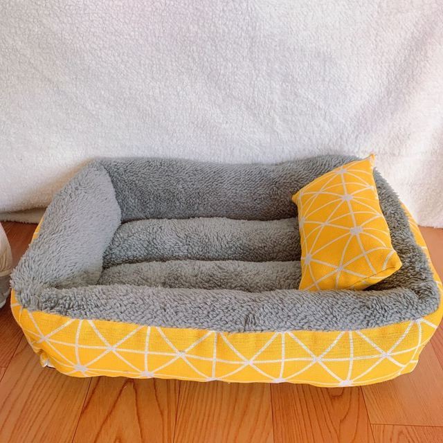 Dog Bed Cotton Dog Bed Waterproof Nest Dog Baskets Mat Soft Pet Bed Autumn Winter Warm Cozy Dog Cat House Pet Products Cat Bed 4
