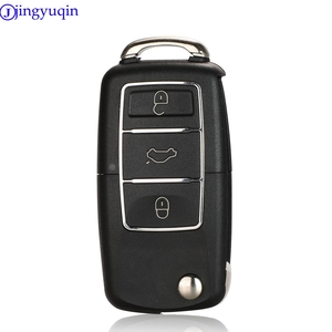 jingyuqin No Blade Flip Folding Car Key Shell For Volkswagen Vw Jetta Golf Passat B5 B6 Beetle Polo Bora Caddy MK5 Skoda