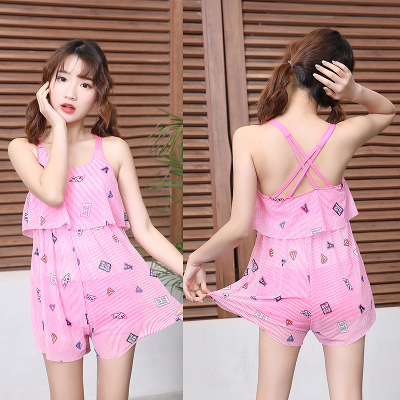 Children New Style Bathing Suit Girls Korean-style Dress-Big Boy Tour Bathing Suit South Korea GIRL'S Princess Students Swimwear